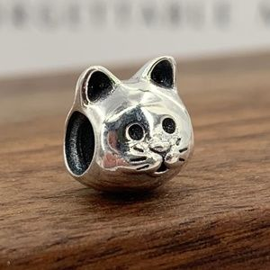 Pandora Cat silver charm #791706